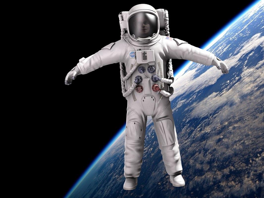 Nasa Astronaut Rigged 3dsmax Mentalray