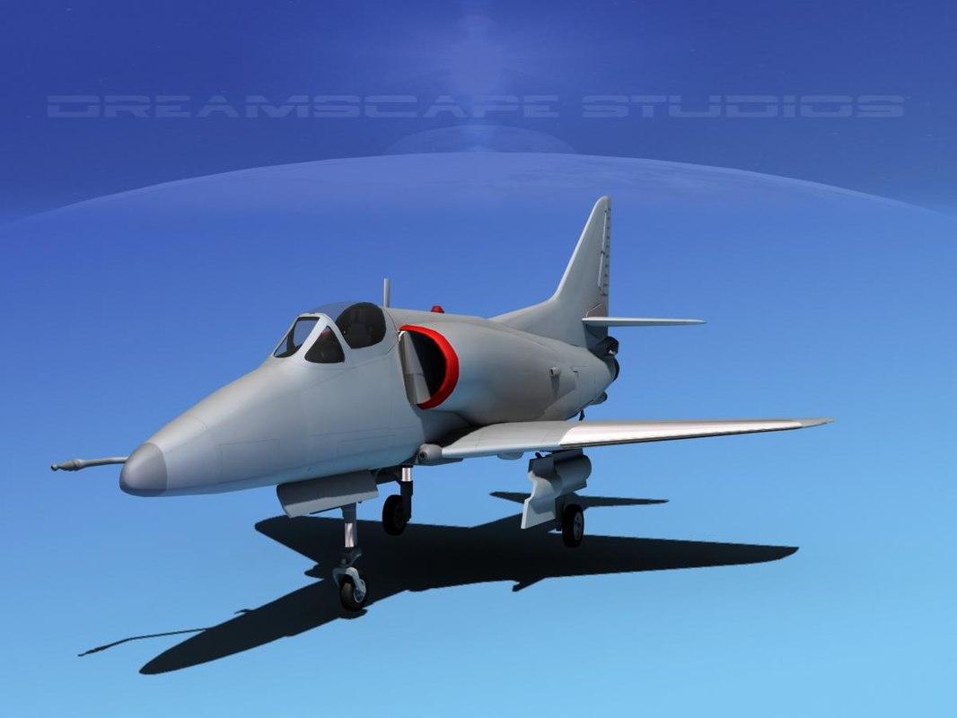 Douglas A-4D Skyhawk Bare Metal