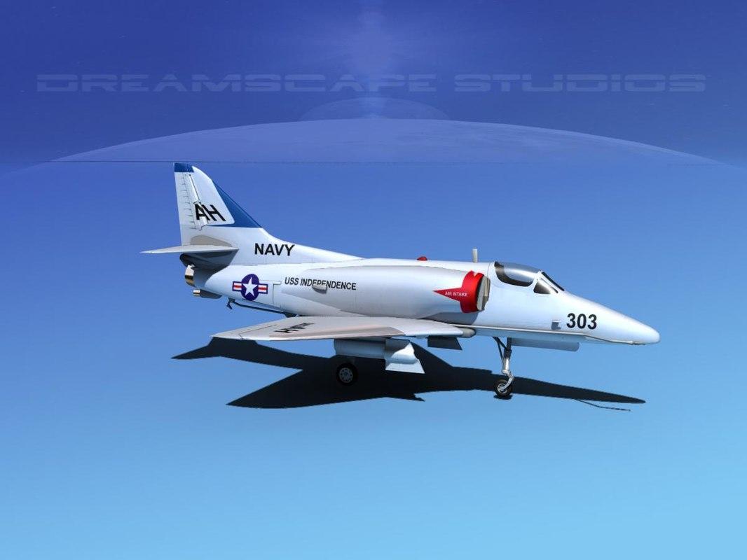 3d skyhawk douglas a 4 a 4d model