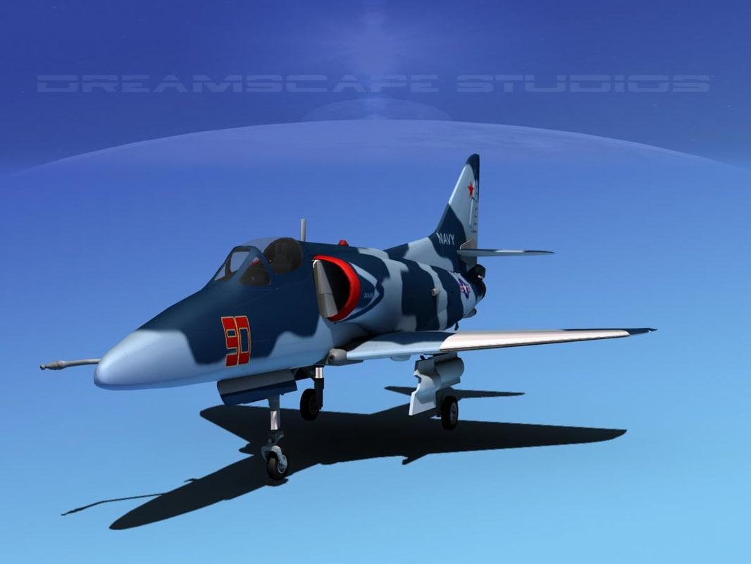 Douglas A-4D Skyhawk V16 USN Aggr