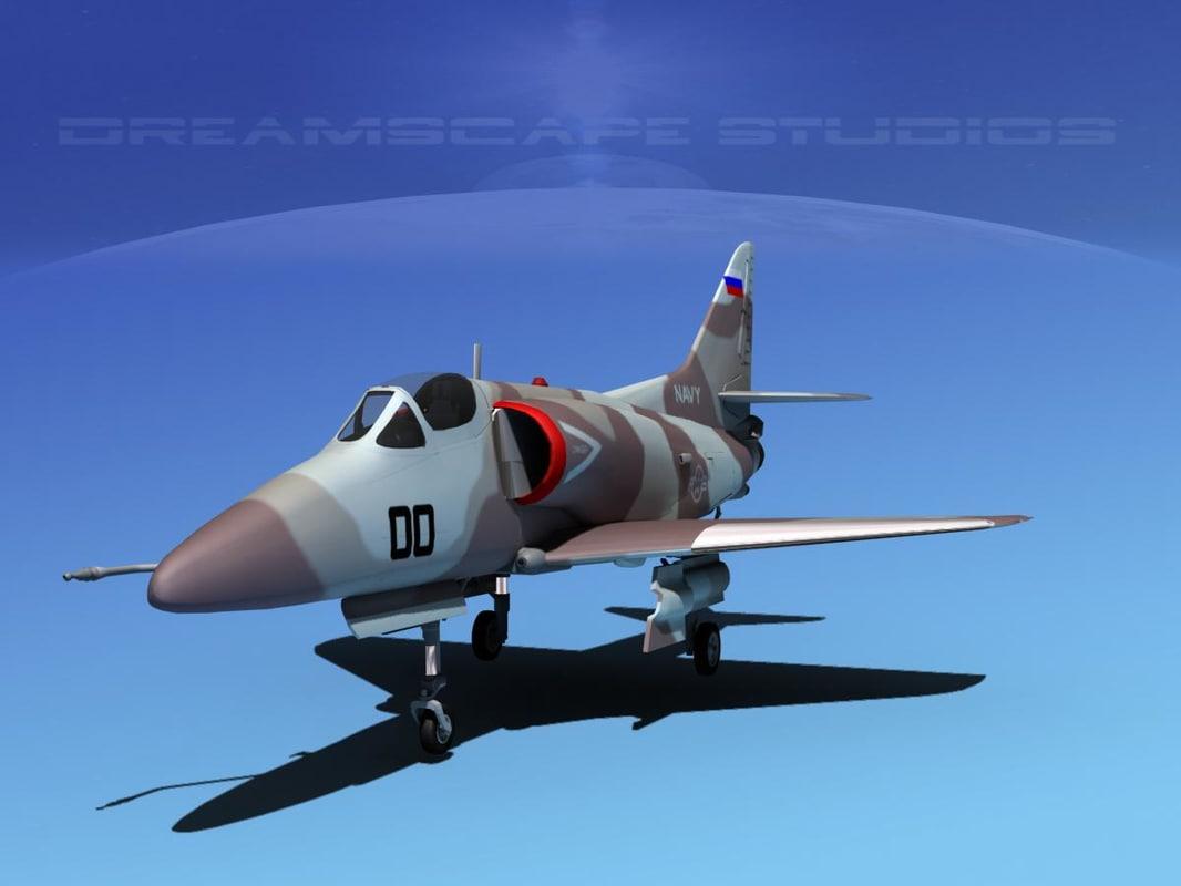 Douglas A-4D Skyhawk V17 USN Aggr