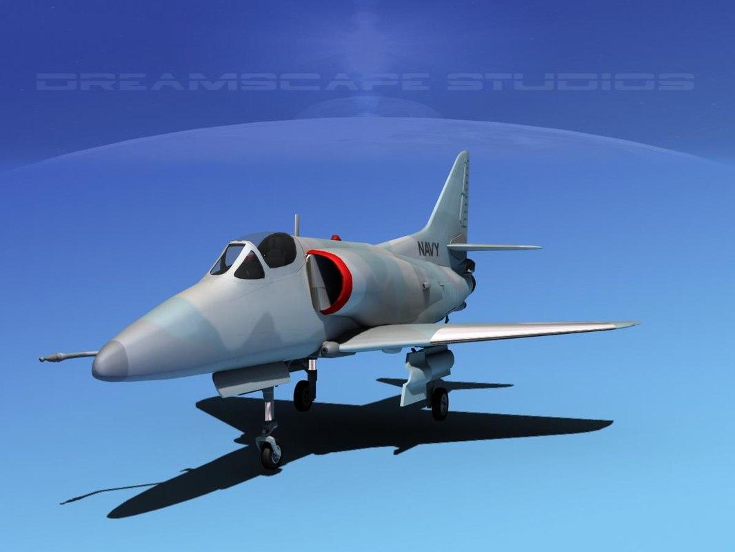 Douglas A-4D Skyhawk V18 USN Aggr