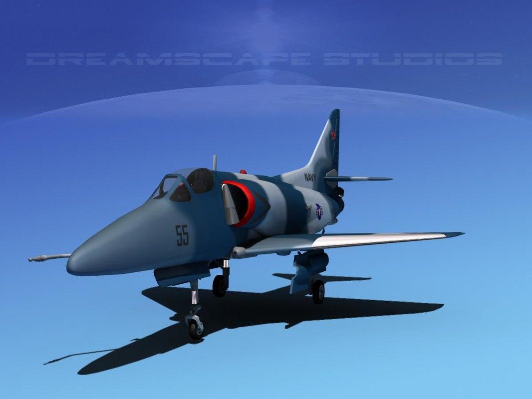 Douglas A-4D Skyhawk V19 USN Aggr
