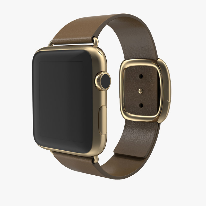 Apple Watch Soft Brown Leather 3d model 00.jpg