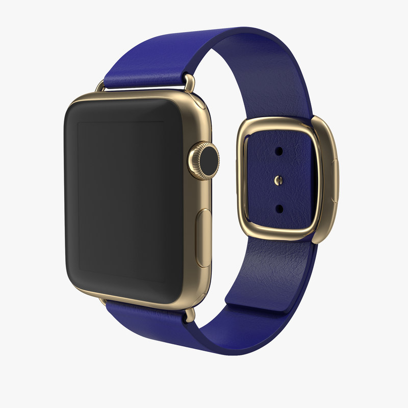 Apple Watch Soft Blue Leather 3d model 00.jpg