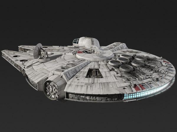 Millennium Falcon Star Wars Spacecraft 3D Models
