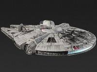 millenium falcon 3D models