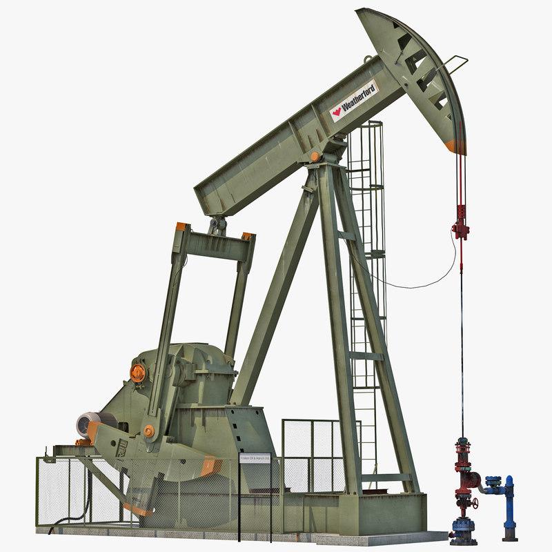 Oil Pump Jack Rigged