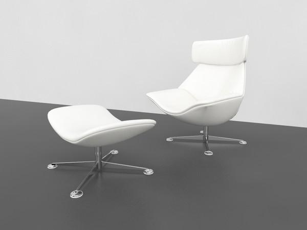 Egon Chair & foot stool 3D Models