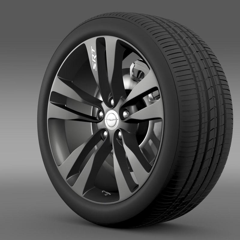 Chrysler 300 SRT8 Satin Vapor wheel