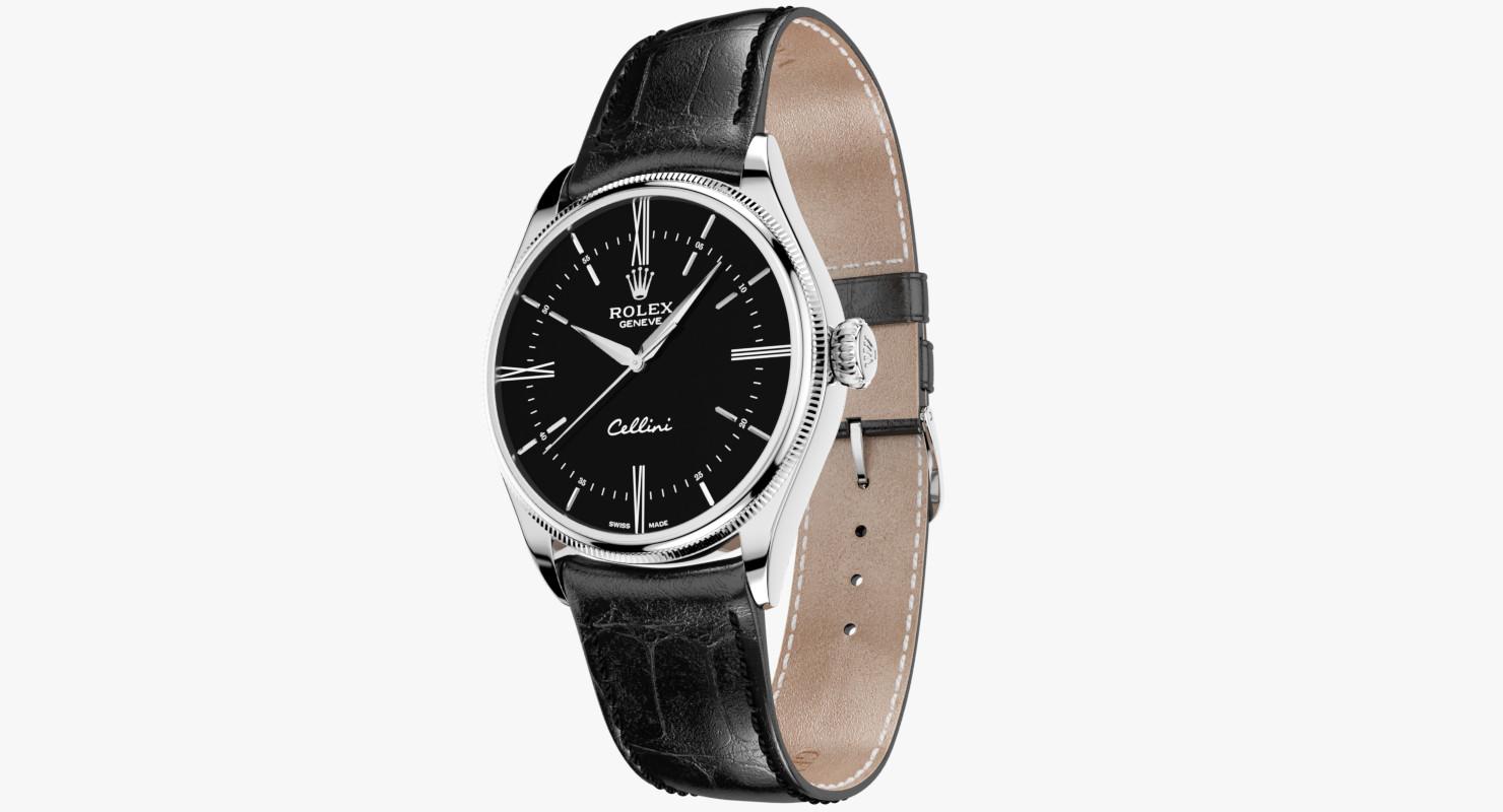Rolex Cellini Time White Gold Black Dial