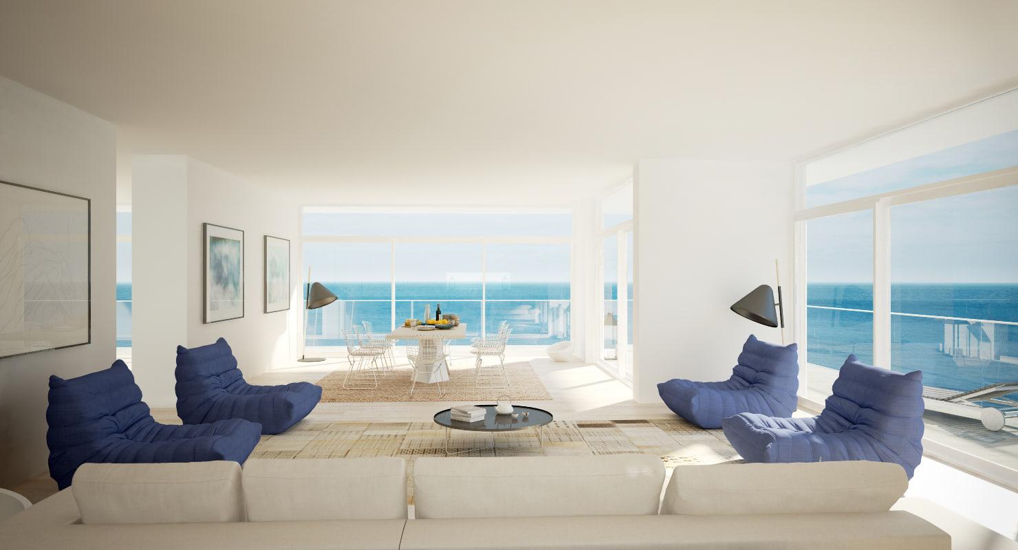 Living Room Seaview Obj