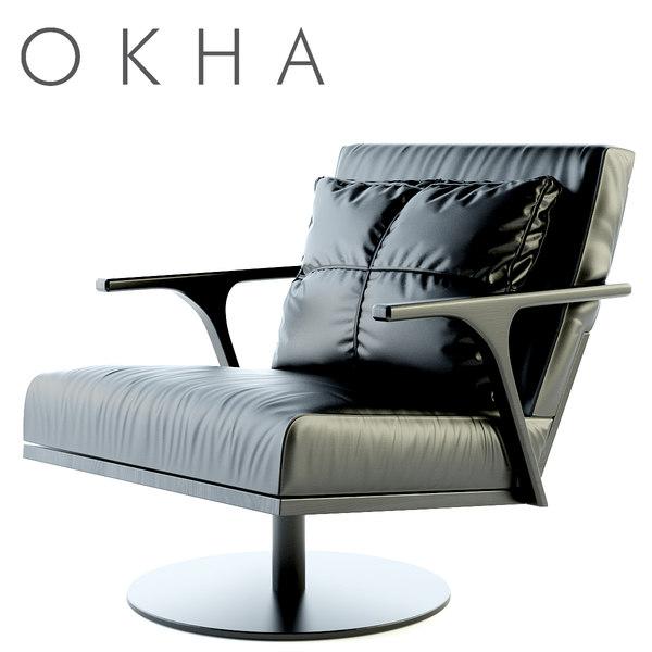 OKHA STM Swivel Base Armchair 3D Models