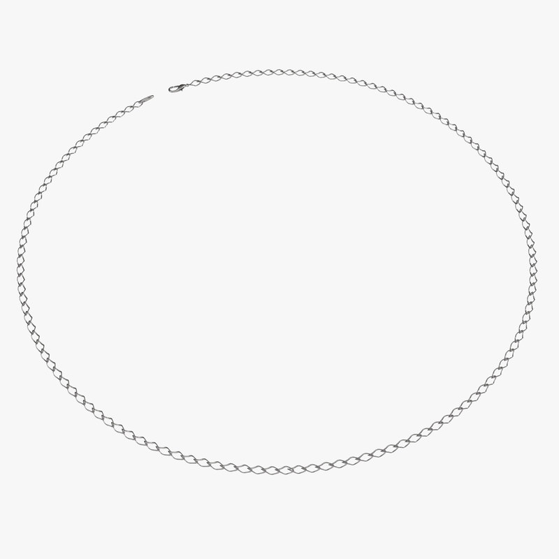 White Gold Chain rigged 3d model 00.jpg