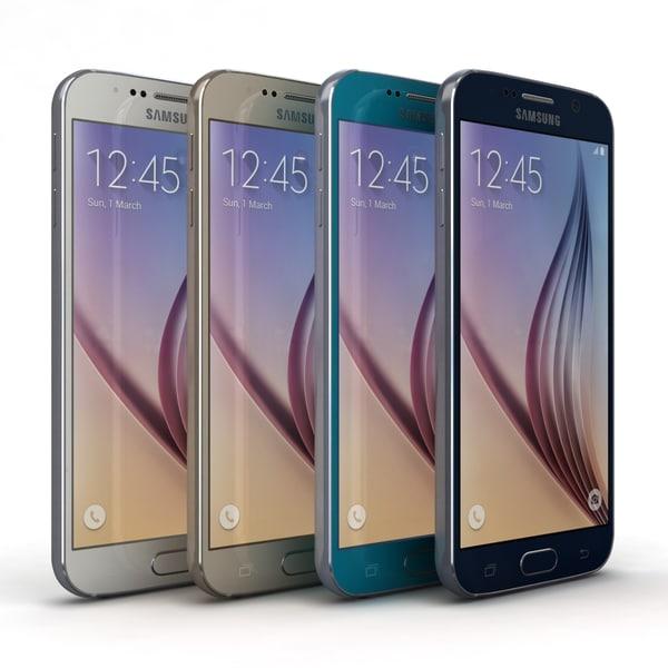 Samsung Galaxy S6 All Color 3D Models