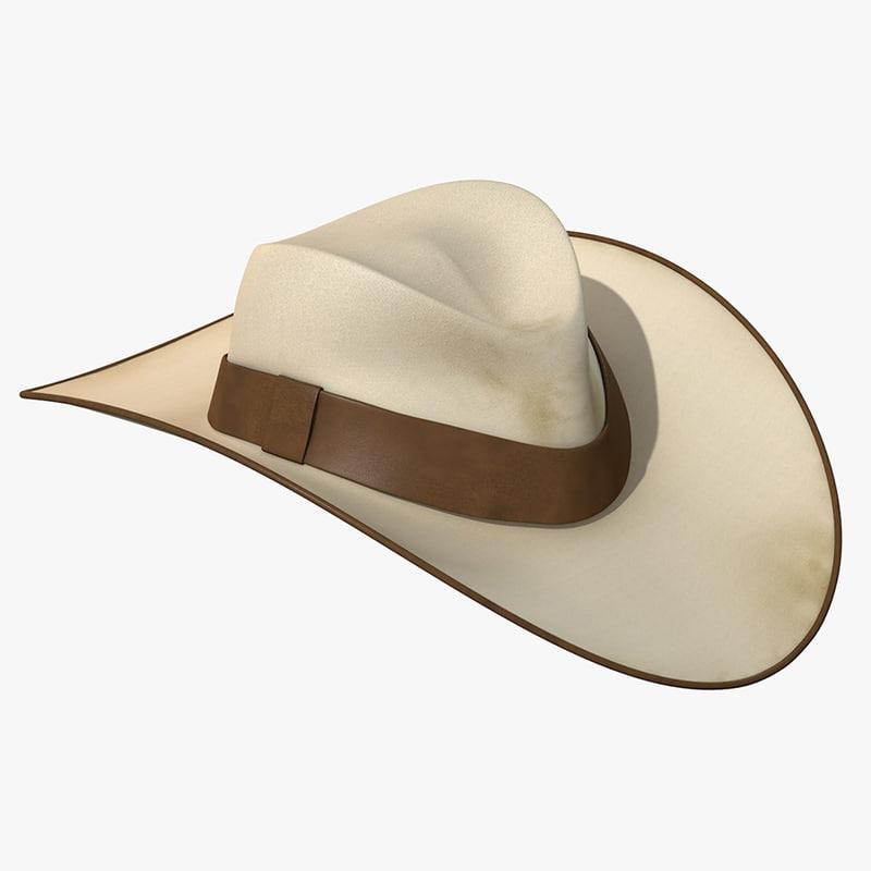 western cowboy hat obj