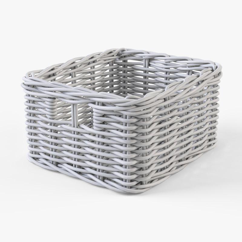 Wicker basket Ikea Byholma 1(white)