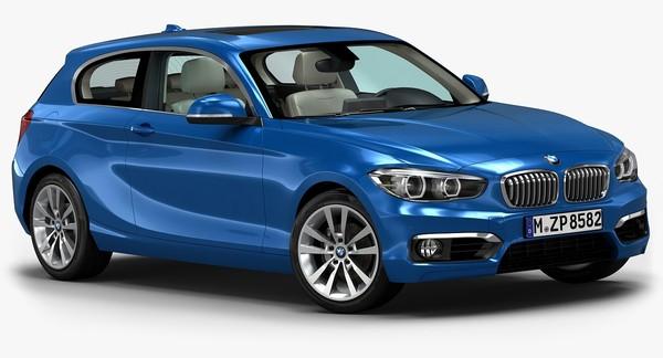 2016 BMW 1 Series 3-door 3D Models