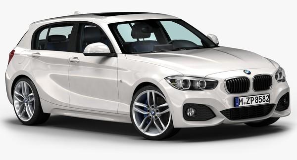 2016 BMW 1 Series 5-door 3D Models