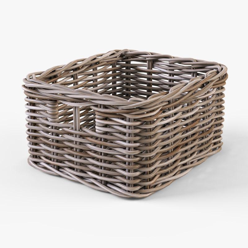 Wicker basket Ikea Byholma 1(gray)