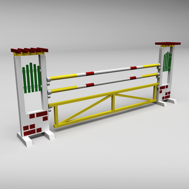 Horse jump obstacle 04