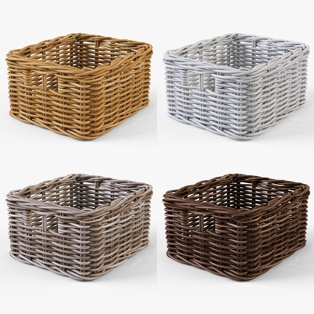 Wicker basket Ikea Byholma 1 Set(4 color)
