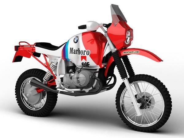 BMW GS980R Dakar 1985 3D Models