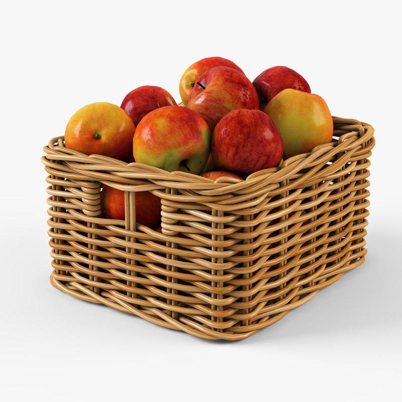 Wicker apple basket Ikea Byholma 1(natural)