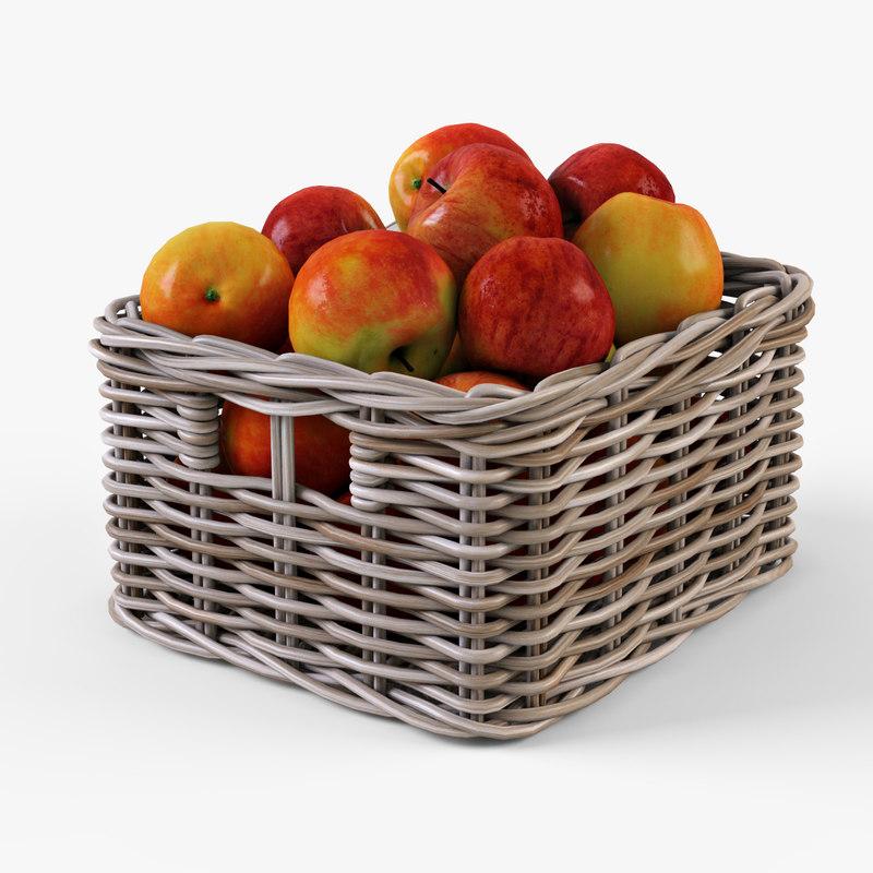 Wicker apple basket Ikea Byholma 1(gray)