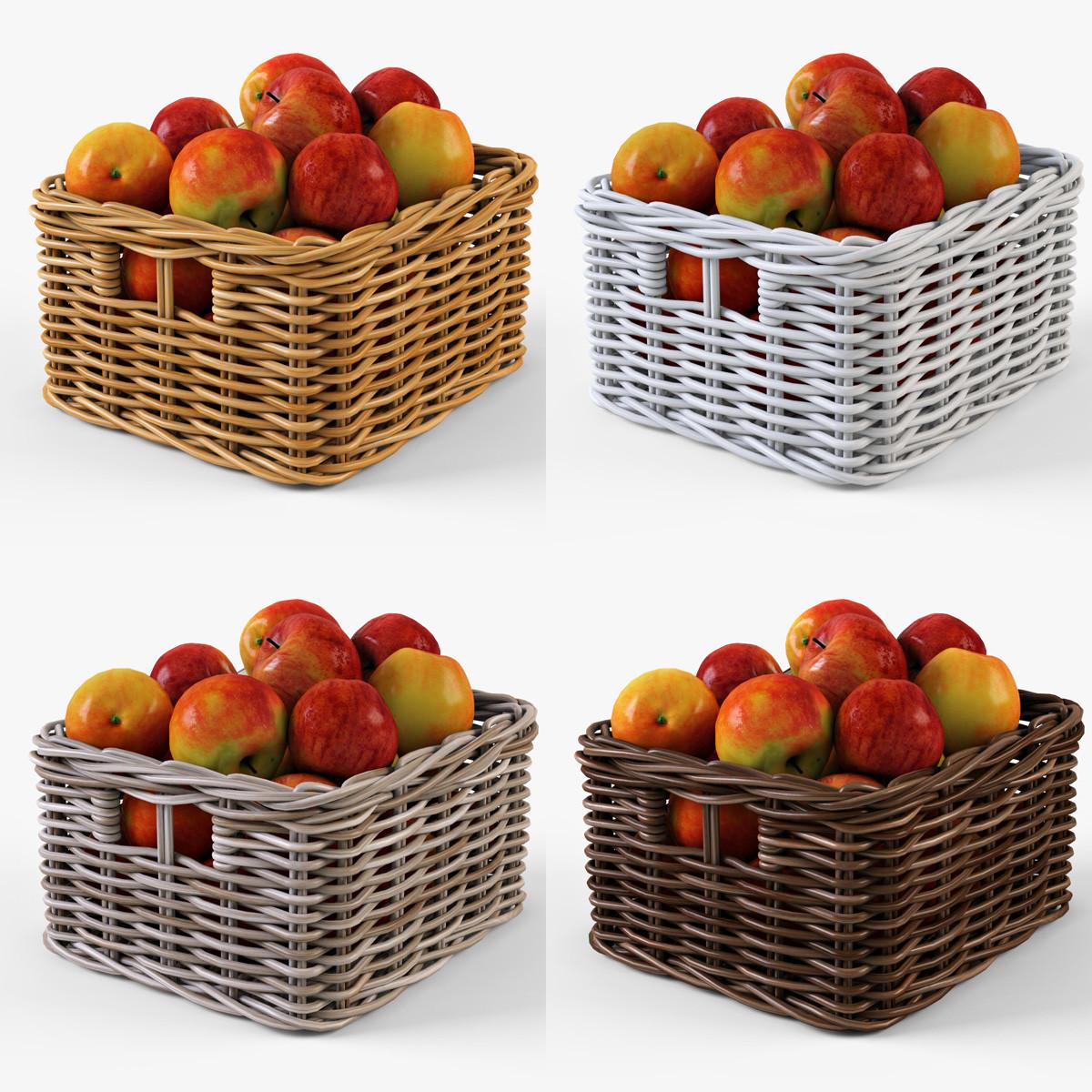 Wicker apple basket Ikea Byholma 1 Set(4 color)