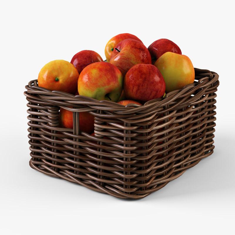 Wicker apple basket Ikea Byholma 1(brown)
