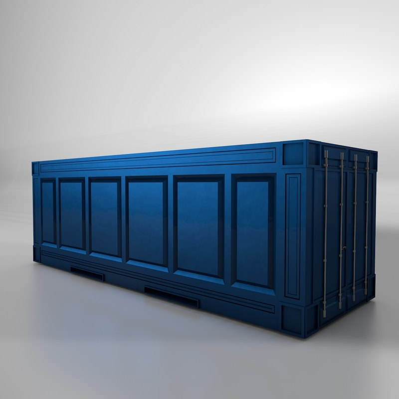 Metal shipping crate c4d for Metal shipping crate