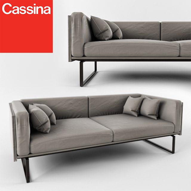 Sofa cassina 202 8 3d obj for Sofa 8 cassina