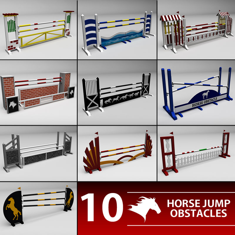 Horse jump obstacle pack
