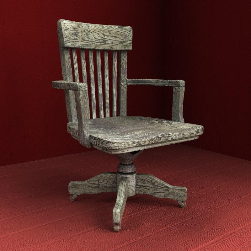 Wooden armchair 01