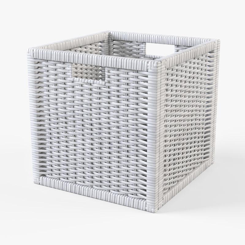 Rattan basket Ikea Branas(white color)