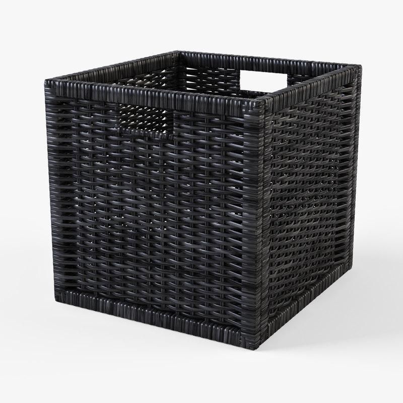 Rattan basket Ikea Branas(black color)