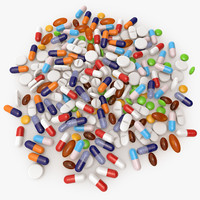 pill 3D models
