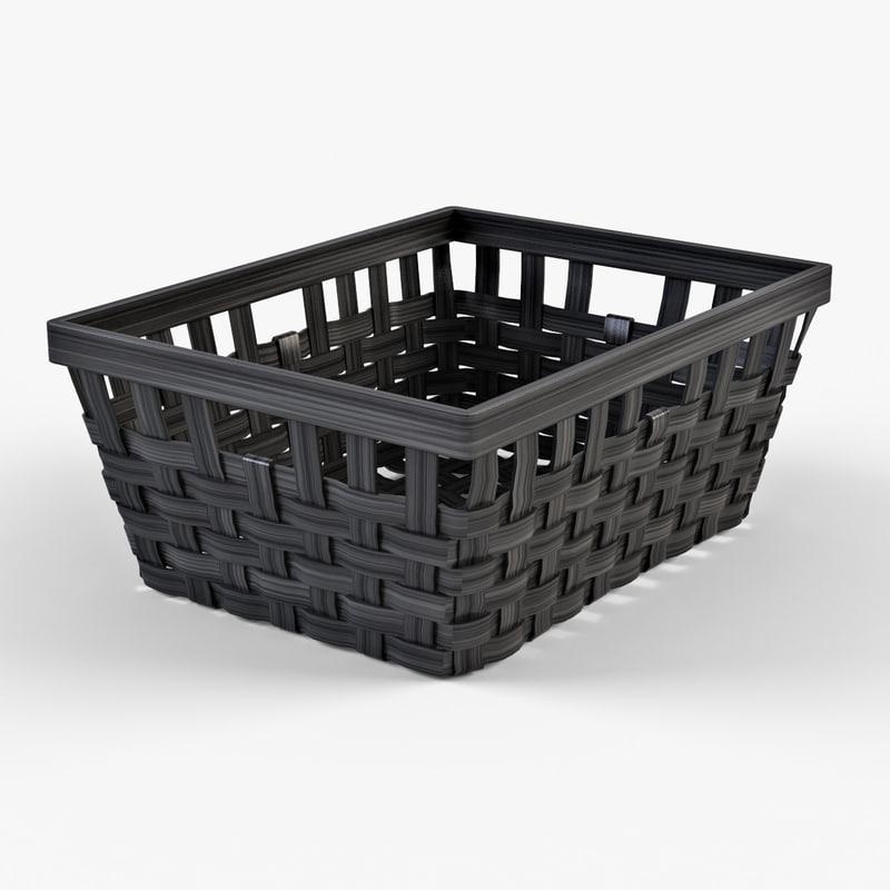 Wicker basket Ikea Knarra 1(black color)