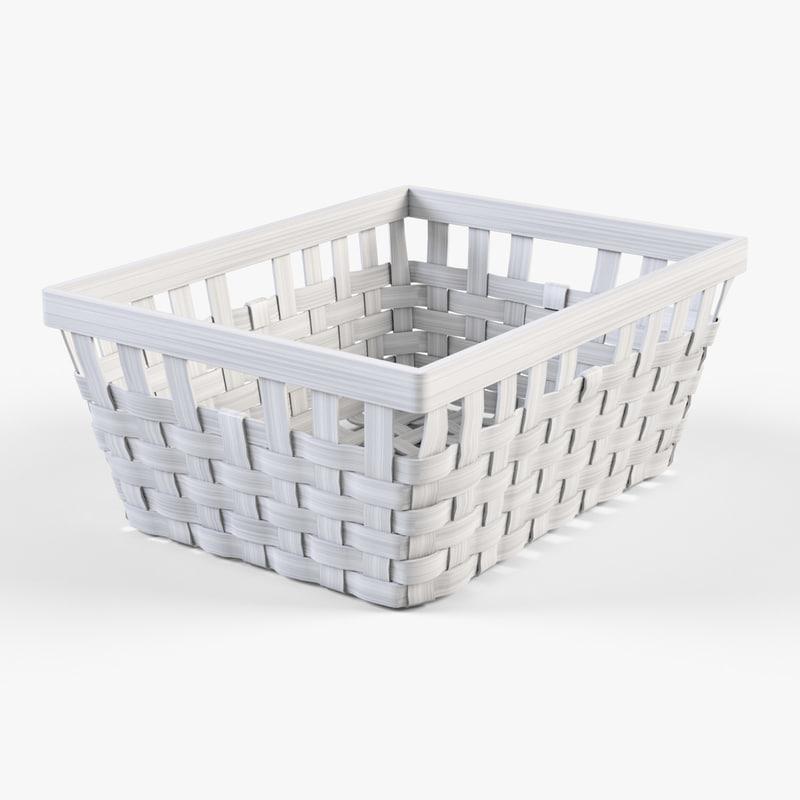 Wicker basket Ikea Knarra 1(white color)