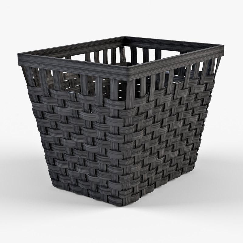Wicker basket Ikea Knarra 2(black color)
