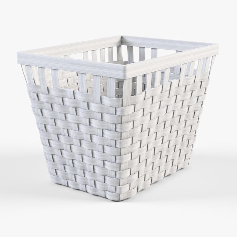 Wicker basket Ikea Knarra 2(white color)