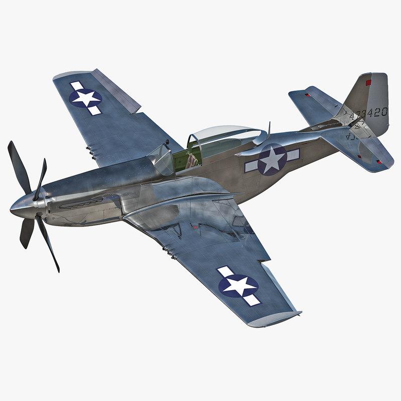 Aircraft North American P-51 Mustang Rigged 3d model 000.jpg