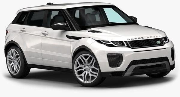 2016 Range Rover Evoque 3D Models