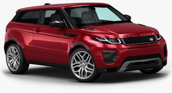 2016 Range Rover Evoque Coupe 3D Models