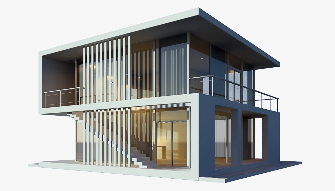 3d modern beach house model for Modern house models pictures