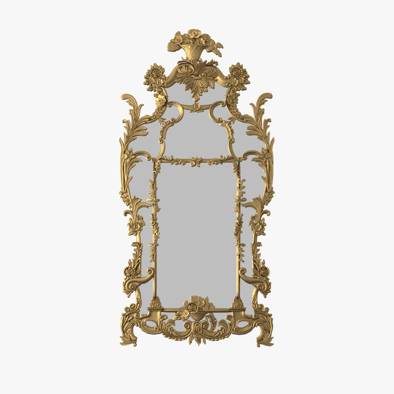 a ralph lauren One Fifth Mirror 8301-04 18 century carved leaf rose baroque classic classical big0001.jpg