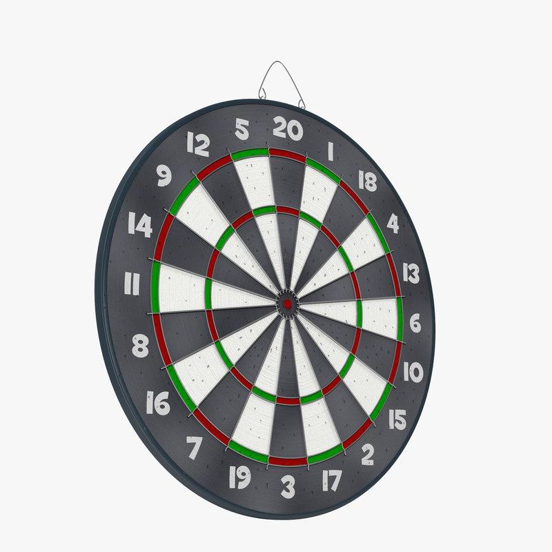 Dart Board 3d model 00.jpg