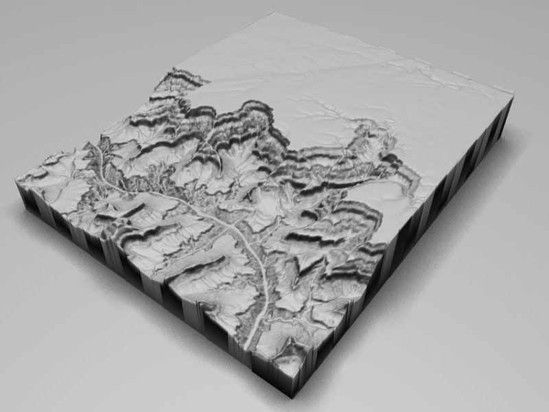 The Grand Canyon in Arizona United States Low Poly 3D Model