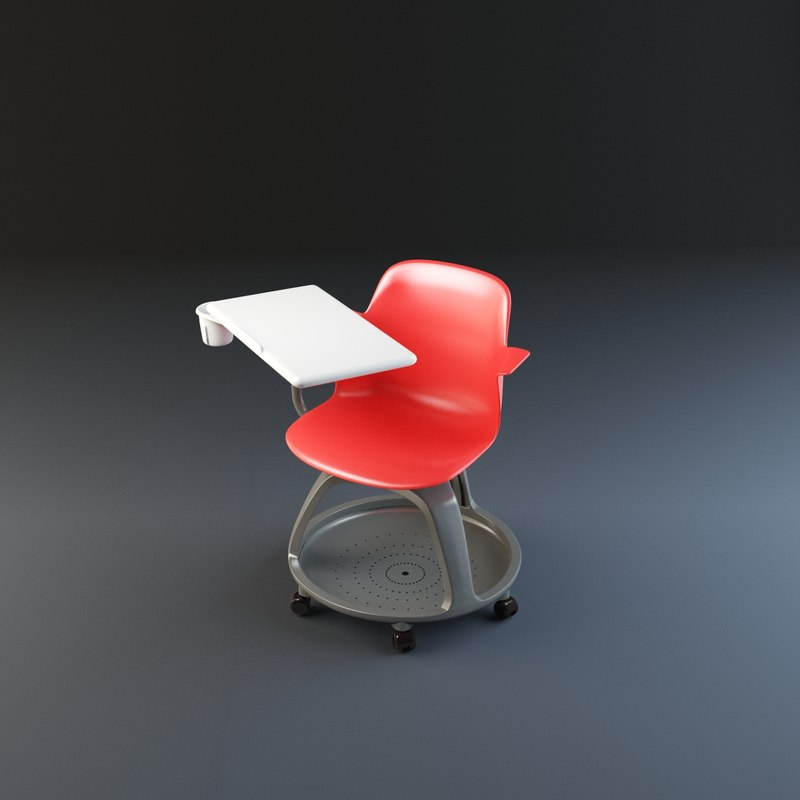 steelcase node chair 3ds